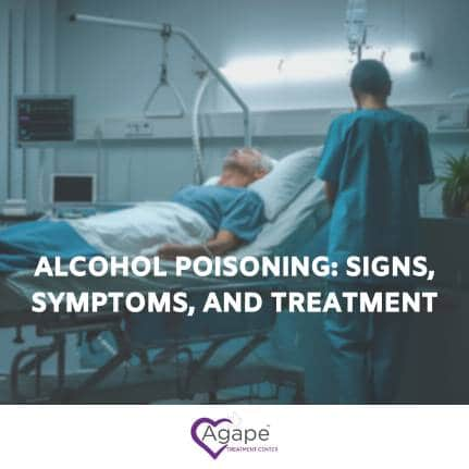 man getting treatment for alcohol poisoning