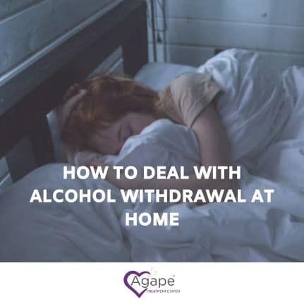girl trying alcohol withdrawal at home